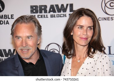 HOLLYWOOD, CA – SEPTEMBER 29, 2017: Don Johnson and wife at a screening of 'Brawl in Cell Block 99' on September 29, 2017 in Hollywood, Ca.