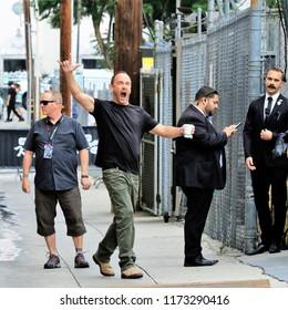 HOLLYWOOD CA - SEPTEMBER 5, 2018: Rock n' Roller Dave Matthews arrives for appearance on Jimmy Kimmel Live! September 5, 2018 Hollwood, CA.
