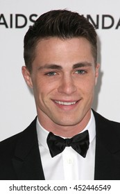 Hollywood, CA, USA; February 26, 2012; Colton Haynes arrives to the 20th Annual Elton John AIDS Foundation Academy Awards Viewing Party.