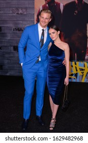 """HOLLYWOOD, CA / USA - JANUARY 14, 2020: Alexander Ludwig and Kristy Dinsmore at the Premiere Of Columbia Pictures' """"Bad Boys For Life"""" held at TCL Chinese Theatre on January 14, 2020 in Hollywood"""