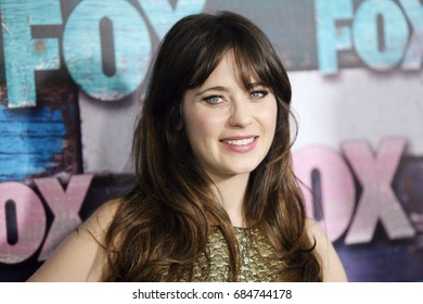 Hollywood, CA, USA; July 23, 2012; Zooey Deschanel arriving to the FOX All Star Party in West Hollywood, California.
