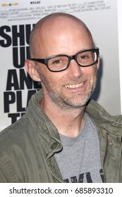 Hollywood, CA, USA; June 17, 2012; Moby arriving to the premiere of 'Shut Up and Play the Hits' in Hollywood, California.