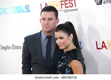 Hollywood, CA, USA; June 24, 2012; Channing Tatum and Jenna Dewan arriving to the premiere of 'Magic Mike' during the 2012 Los Angeles Film Festival.
