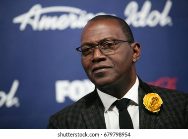 Hollywood, CA, USA; March 01, 2012;  Randy Jackson arrives to the American Idol Finalist Party.