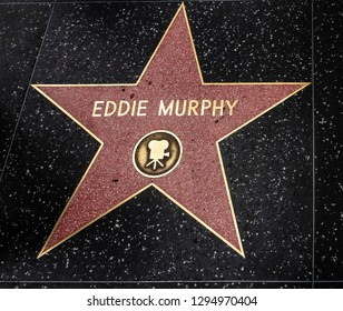 Hollywood, CA, USA - May 30,2018: Eddie Murphy's star Hollywood walk of fame