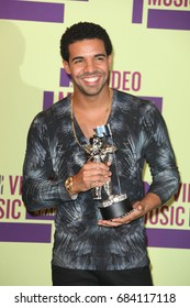 Hollywood, CA, USA, September 6, 2012; Drake poses backstage to the 2012 MTV Video Music Awards at Staples Center.