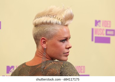 Hollywood, CA, USA, September 6, 2012; Pink arrives to the 2012 MTV Video Music Awards at Staples Center.