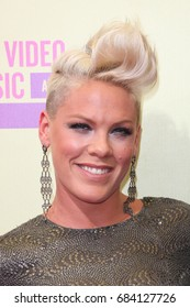 Hollywood, CA, USA; September 6, 2012;  Pink arrives to the 2012 MTV Video Music Awards at Staples Center in Los Angeles, California.
