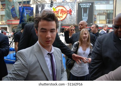 """HOLLYWOOD, CA-APRIL 17: Singer Kevin Jonas arrives at the premiere of Walt Disney's movie """"Oceans"""" at the El Capitan Theatre, April 17, 2010 in Hollywood, California."""
