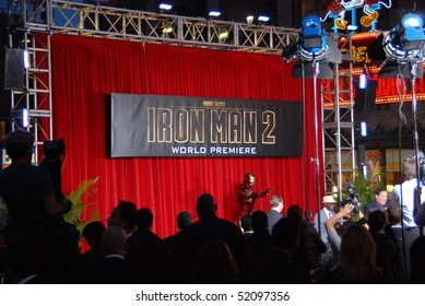 "HOLLYWOOD, CA-APRIL 26: Iron Man's Character presentation at the world premiere of the movie ""Iron Man 2"" held at the ""El Capitan"" theatre, April 26, 2010 in Hollywood, CA."