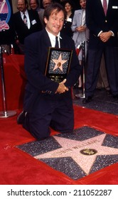 Hollywood, California - 12 Dec 1990 - Robin Williams receiving his star on the Walk of Fame
