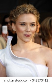 """HOLLYWOOD, CALIFORNIA - April 26, 2010. Scarlett Johansson at the World premiere of """"Iron Man 2"""" held at the El Capitan Theater, Hollywood."""