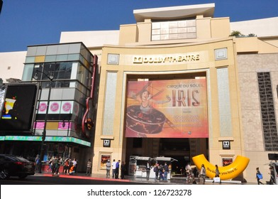 HOLLYWOOD, CALIFORNIA - DECEMBER 7: Dolby Theatre (Kodak Theatre) is home of Academy Awards (popularly known as the Oscars) as seen in Los Angeles (Hollywood) on December 7, 2012.