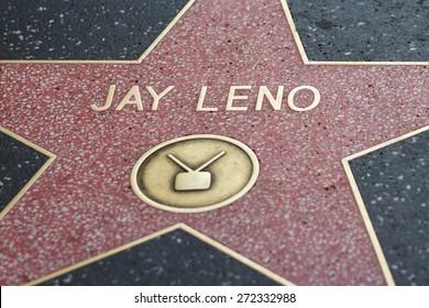 Hollywood, California - February 08 : Jay Leno star in the Hollywood walk of fame, February 08 2015 in Hollywood, California.