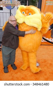 "HOLLYWOOD, CALIFORNIA - February 19, 2012. Danny DeVito at the Los Angeles premiere of ""Dr. Suess' The Lorax"" held at the Universal Studios Hollywood, Los Angeles."