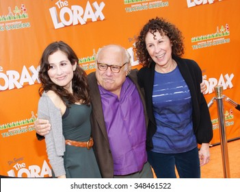"""HOLLYWOOD, CALIFORNIA - February 19, 2012. Danny DeVito at the Los Angeles premiere of """"Dr. Suess' The Lorax"""" held at the Universal Studios Hollywood, Los Angeles."""