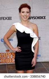 """HOLLYWOOD, CALIFORNIA - June 6, 2011. Scarlett Johansson at the Spike TV's 5th Annual 2011 """"Guys Choice"""" Awards held at the Sony Pictures Studios, Los Angeles."""