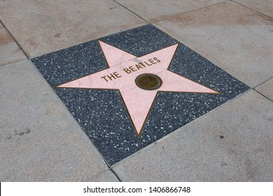 Hollywood, California – May 20, 2019: Star of  THE BEATLES on Hollywood Walk of Fame in Hollywood Boulevard, Los Angeles, California