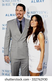 "HOLLYWOOD, CALIFORNIA - May 3, 2011. Steve Howey and Sarah Shahi at the Los Angeles premiere of ""Something Borrowed"" held at the Grauman's Chinese Theater in Los Angeles."