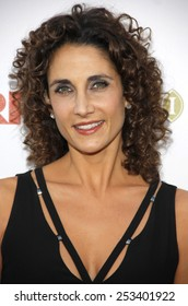 """HOLLYWOOD, CALIFORNIA - Monday May 1, 2010. Melina Kanakaredes at the 5th Annual """"A Fine Romance"""" Benefit held at the Fox Studio Lot, Hollywood."""