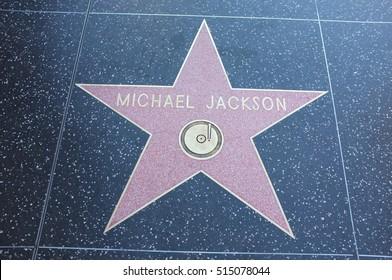 HOLLYWOOD, CALIFORNIA - NOVEMBER 13 2016: Samuel L Jackson's Hollywood Walk of Fame star on November 13, 2016 in Hollywood, CA.