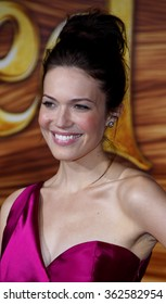 """HOLLYWOOD, CALIFORNIA - November 14, 2010. Mandy Moore at the Los Angeles premiere of """"Tangled"""" held at the El Capitan Theater, Los Angeles."""