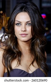 """HOLLYWOOD, CALIFORNIA. Thursday April 10, 2008. Mila Kunis attends the World Premiere of """"Forgetting Sarah Marshall"""" held at the Grauman's Chinese Theater in Hollywood, California United States."""