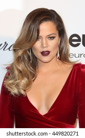 Hollywood, California, USA; March 2, 2014;  Khloe Kardashian arrives to Elton John AIDS Foundation Presents 22nd Academy Award Viewing Party.