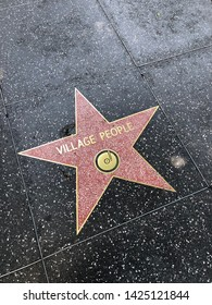 Hollywood, California / Usa - May 26 2019: Village People, Los Angeles, Hollywood walk of fame
