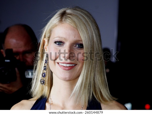 """HOLLYWOOD, CALIFORNIA. Wednesday April 30, 2008. Gwyneth Paltrow attends the Los Angeles Premiere of """"Iron Man"""" held at the Grauman's Chinese Theater in Hollywood, California United States."""