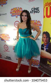 HOLLYWOOD, CA-MAY 29: Actress/singer Dulce Maria arrives at The Hola Mexico Film Festival held at The Montalban Theatre, May 29, 2012 in Hollywood, CA.