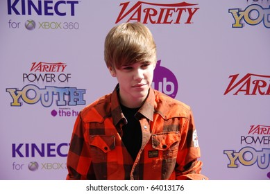 HOLLYWOOD, CA-OCTOBER 24: Singer Justin Bieber attends the 4th annual Variaty's Power Of Youth even at Paramount Studios on October 24, 2010 in Hollywood, California.