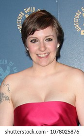 Hollywood, CA/USA; February 2, 2013; Lena Dunham poses backstage at the 65th Annual DGA Awards in Hollywood, California.