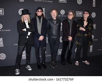 "HOLLYWOOD, CA/USA - JAN 4 2020:  Cheap Trick arrives to The Art of Elysium 13th Annual Black Tie Artistic Experience ""HEAVEN"" on January 4, 2020 in Hollywood, CA"