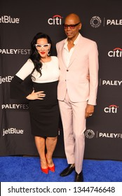 """Hollywood, CA/USA - March 17, 2019: Rupaul Charles and Michelle Visage attend the PaleyFest  """"Rupaul's Drag Race"""" event at the Dolby Theater."""