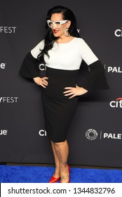 """Hollywood, CA/USA - March 17, 2019: Michelle Visage attends the PaleyFest  """"Rupaul's Drag Race"""" event at the Dolby Theater."""
