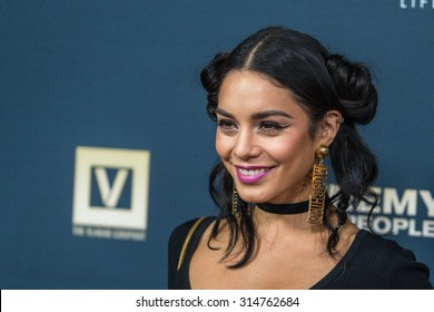 """HOLLYWOOD, CA/USA -  SEPTEMBER  08  2015: Vanessa Hudgens attends the World Premiere of """"Jeremy Scott: The People's Designer"""" at the TCL Chinese Theatre in Hollywood, Calif."""