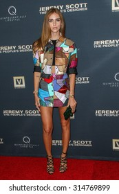 """HOLLYWOOD, CA/USA -  SEPTEMBER  08  2015: Chiara Ferragni attends the World Premiere of """"Jeremy Scott: The People's Designer"""" at the TCL Chinese Theatre on Tuesday, September 8, 2015"""
