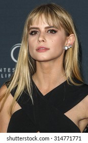 """HOLLYWOOD, CA/USA -  SEPTEMBER  08  2015: Carlson Young attends the World Premiere of """"Jeremy Scott: The People's Designer"""" at the TCL Chinese Theatre on Tuesday, September 8, 2015 in Hollywood, Calif"""