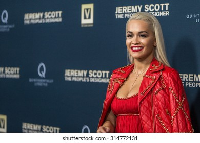 """HOLLYWOOD, CA/USA -  SEPTEMBER  08  2015: Rita Ora attends the World Premiere of """"Jeremy Scott: The People's Designer"""" at the TCL Chinese Theatre on Tuesday, September 8, 2015, in Hollywood, Calif."""