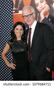 Hollywood, CA/USA-April 9, 2013: Julia Louis-Dreyfus and Brad Hall arrive to the premiere of season two of 'Veep' in Hollywood, California.
