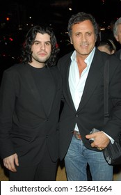 "HOLLYWOOD - DECEMBER 13: Sage Stallone and Frank Stallone at the world premiere of ""Rocky Balboa"" on December 13, 2006 at Grauman's Chinese Theatre, Hollywood, CA."