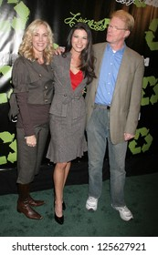 "HOLLYWOOD - DECEMBER 21: Rachelle Carson with Adrienne Janic and Ed Begley Jr. at the premiere screening of ""Living With Ed"" on December 21, 2006 at Sunset Laemmle Theatre in West Hollywood, CA."