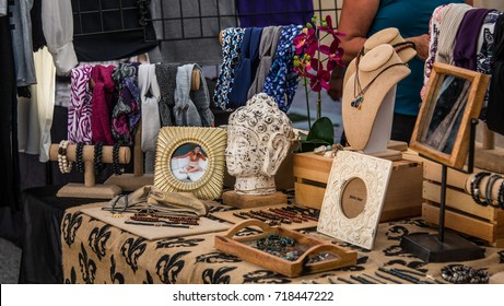 HOLLYWOOD, FL - September 16th, 2017: Artisan art and craft monthly market in local area next to Miami