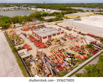 HOLLYWOOD, FL, USA - MARCH 10, 2021: Industrial equipment rental business