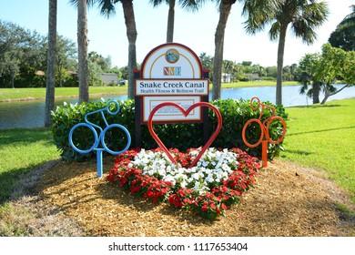 Hollywood, Florida - November, 18, 2017: Snake Creek Trail Park located in North Miami, Florida