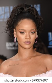"""HOLLYWOOD - JUL 17:  Rihanna arrives to the """"Valerian And The City Of A Thousand Planets"""" World Premiere  on July 17, 2017 in Hollywood, CA"""