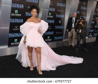 "HOLLYWOOD - JUL 17:  Rihanna arrives to the ""Valerian And The City Of A Thousand Planets"" World Premiere  on July 17, 2017 in Hollywood, CA"
