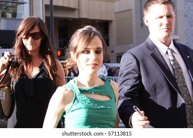 """HOLLYWOOD - JULY 13: Actor Ellen Page at the premiere of the movie """"Inception"""" at Grauman's Chinese Theatre July 13, 2010 in Holllywood, CA."""