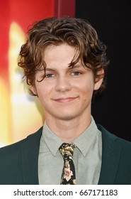 """HOLLYWOOD - JUN 26:  Ty Simpkins arrives to """"The House"""" Los Angeles Premiere  on June 26, 2017 in Hollywood, CA"""